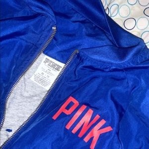 Love pink blue bomber cubs jacket